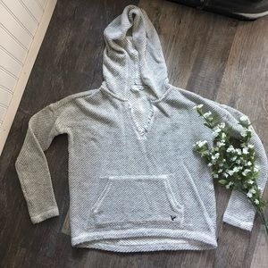 American Eagle | Grey White Textured Hoodie